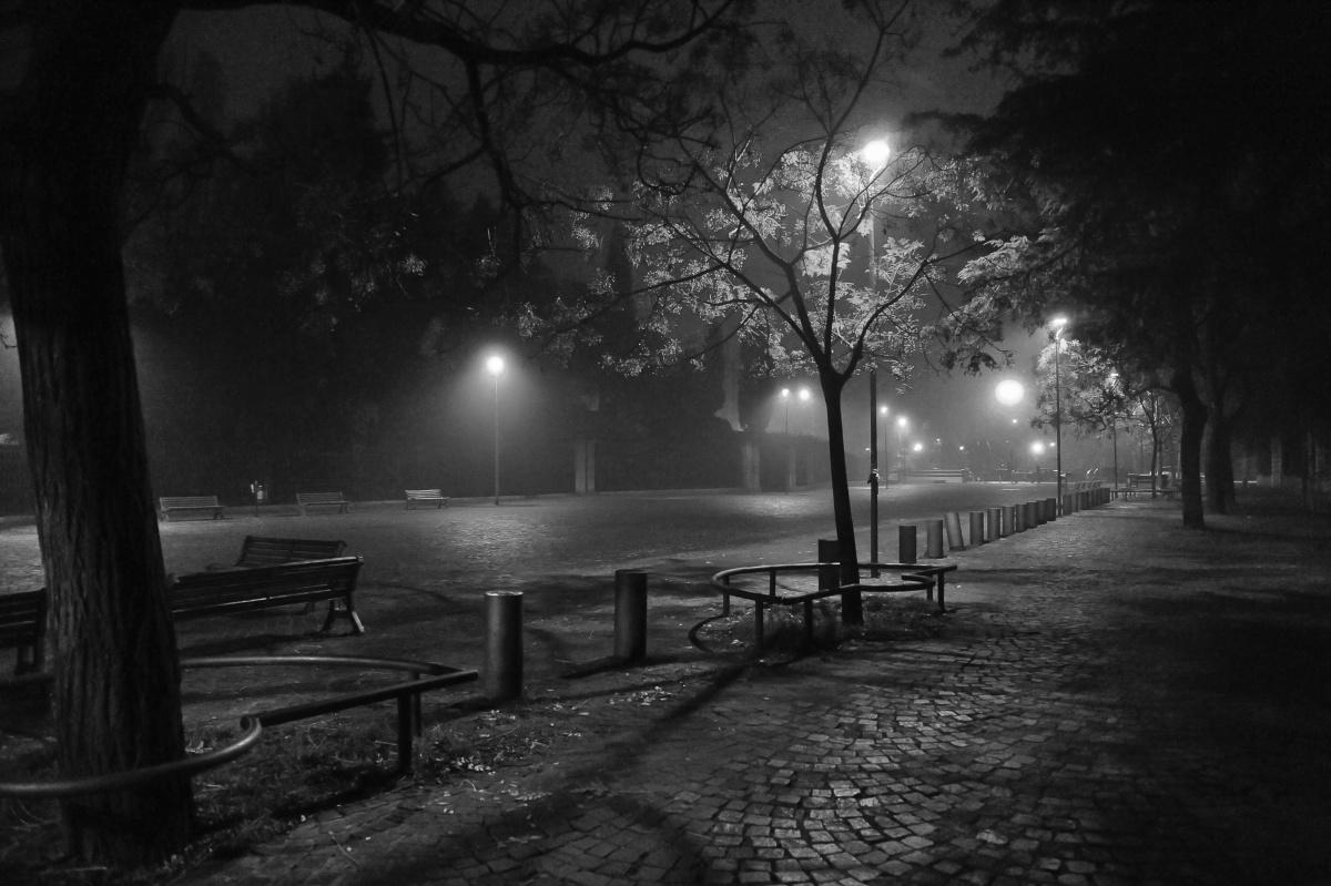 Notte d'inverno - Bologna, Piazza Carducci, dicembre 2015