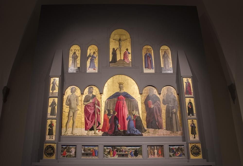 Museo civico, Polittico della Misericordia, di Piero della Francesca