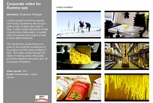 corporate video • pasta Rummo