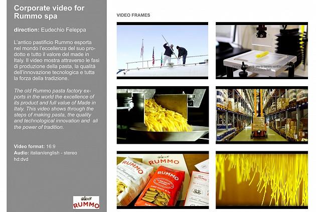 corporate video • pasta Rummo